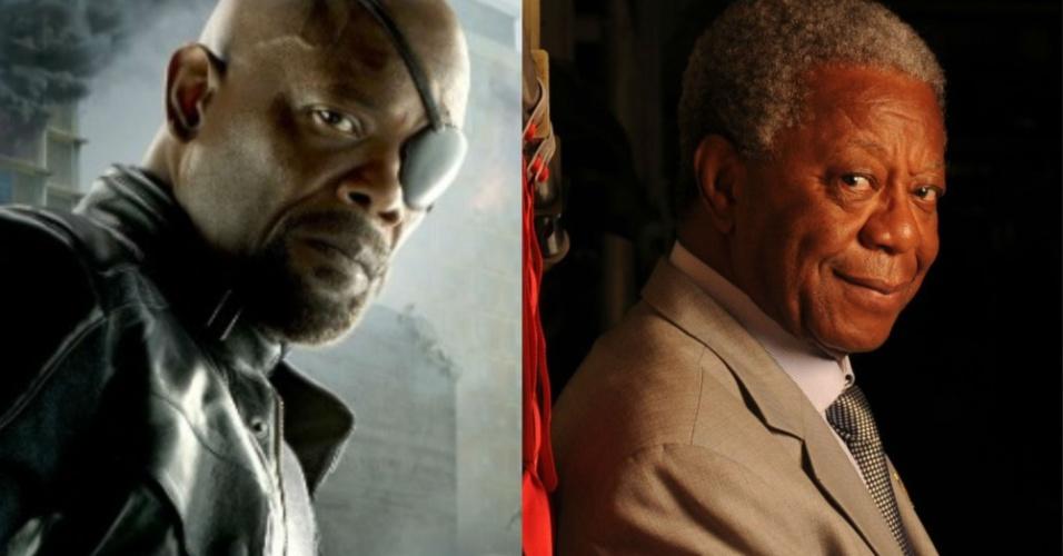 Milton Gonçalves é daqueles atores que exalam experiência e sobriedade. Assim como Samuel L. Jackson. Para interpretar o chefe da S.H.I.E.L.D, o nosso eleito não poderia ser outro. Só faltou o tapa-olho