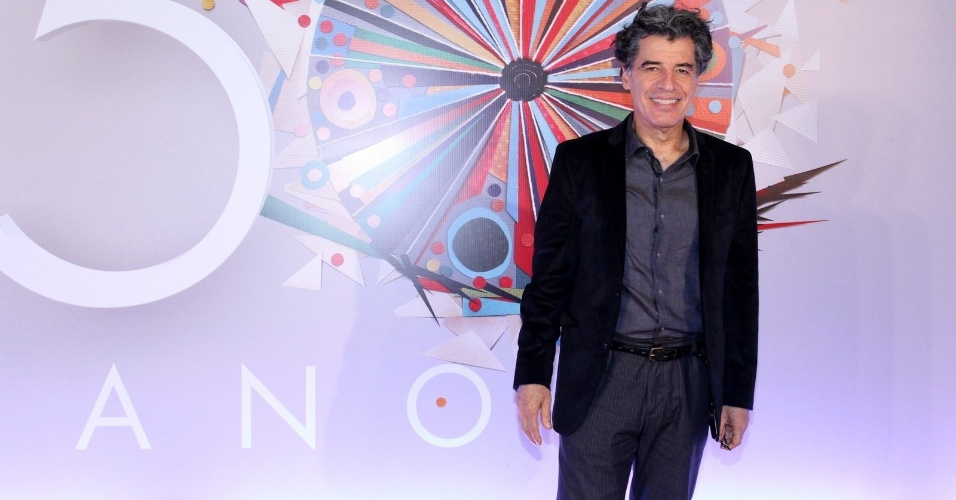 23.abr.2015 - Paulo Betti marcou presença  festa de comemoração aos 50 anos da TV Globo, no Maracanãzinho