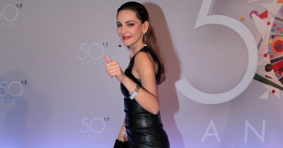 23.abr.2015 - Taina Müller na festa de comemoração aos 50 anos da TV Globo, no Maracanãzinho