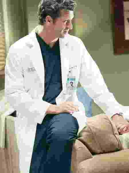 "Derek (Patrick Dempsey) em ""Grey"