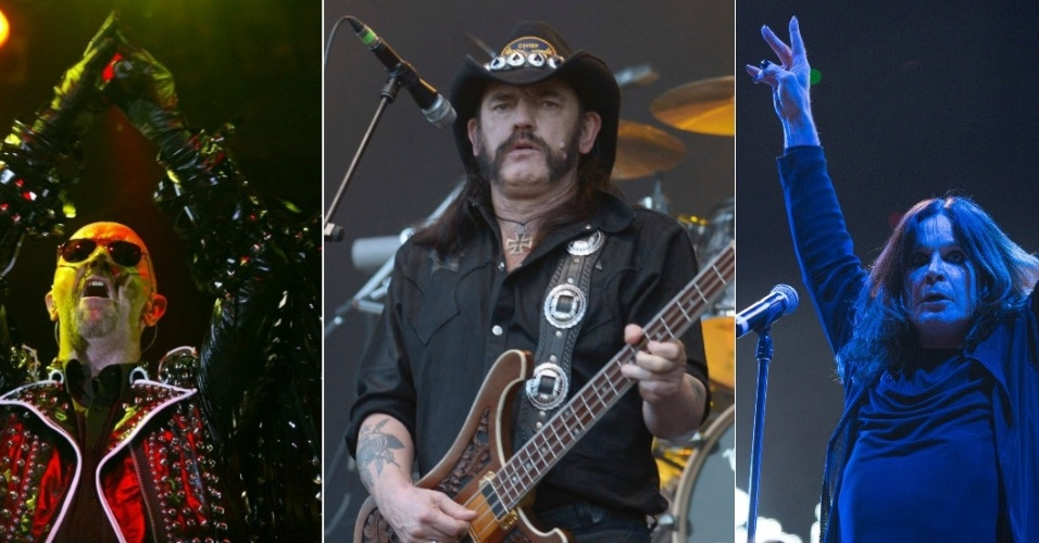 Rob Halford, Lemmy Kilmister e Ozzy Osbourne
