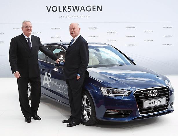 Martin Winterkorn, homem-forte da Volkswagen, e Ferdinand Piech, neto de Porsche e presidente do conselho fiscal, dividiam forças no grupo; não mais... - Sean Gallup/Getty Images
