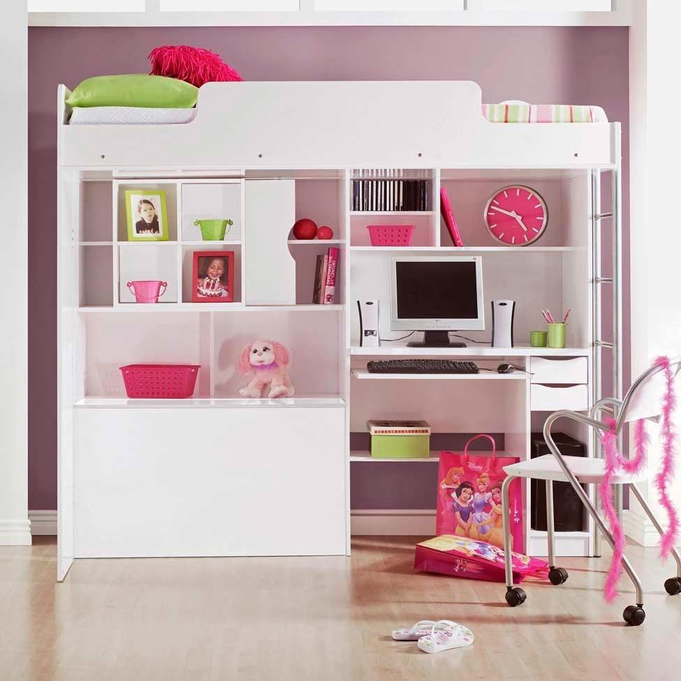Fotos cama com escrivaninha op o funcional para quarto - Camas para jovenes modernas ...