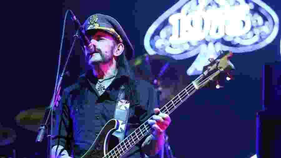 Lemmy Kilmister com o Motörhead no Brasil - Rodolfo Buhrer/UOL/Folhapress