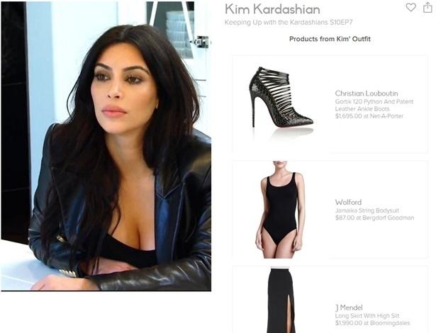 """Descubra quais as peças usadas por Kim Kardashian em """"Keeping Up With The Kardashians"""" com novo aplicativo - Reprodução"""