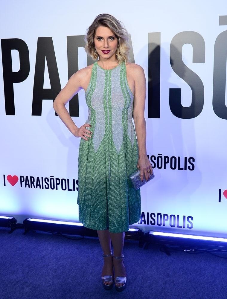 29.abr.2015- Letícia Spiller chega para a festa de lançamento da novela