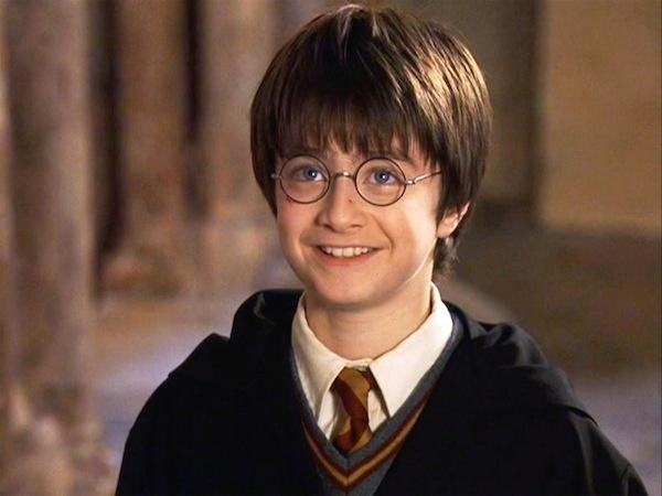 Daniel Radcliffe como o mago Harry Potter