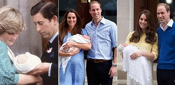 Xale usado pela filha de Kate Middleton e Príncipe William é uma tradição que acompanha a família real há três gerações
