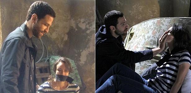 Armando sequestra Gabriela e a amordaça no cativeiro