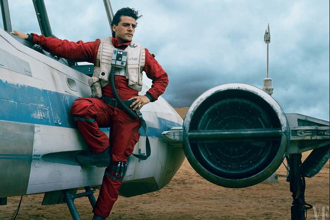 "Ator Oscar Isaac interpreta o piloto rebelde Poe Dameron na nova trama do episódio 7 de ""Star Wars"" dirigido por J.J. Abrams"