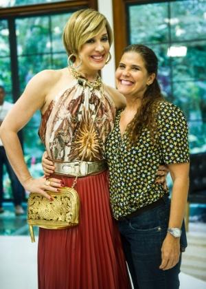 """Claudia Raia e Rosana Garcia nos bastidores de """"Alto Astral"""""""