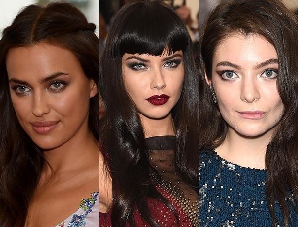Irina Shayk, Adriana Lima e Lorde apostam nos olhos esfumados para o MET - Getty Images