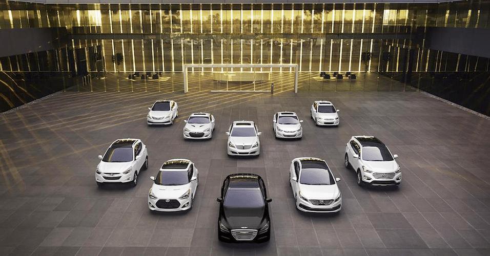 Linha da Hyundai