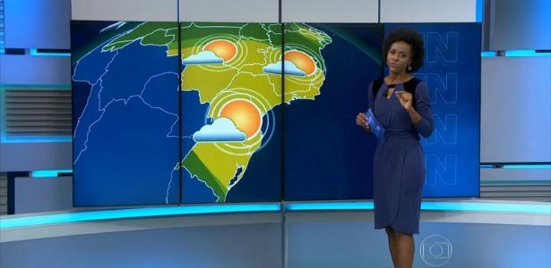 """Maria Júlia Coutinho apresenta a previsão do tempo no """"JN"""""""