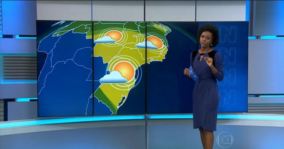 """Maria Júlia Coutinho apresenta a previsão do tempo no """"Jornal Nacional"""""""