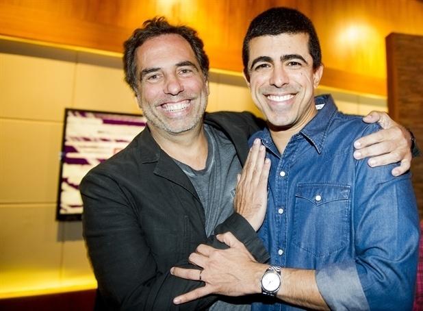 Maurício Farias e Marcius Melhem são parceiros em dois programas humorísticos da Globo: