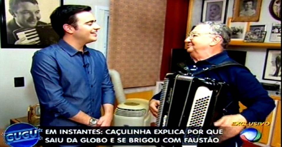 06.mai.2015 - Caçulinha é homenageado no programa de Gugu Liberato