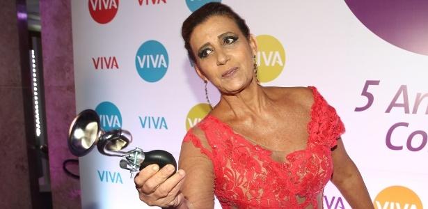 Magoada com brincadeira, Rita Cadilac larga gravação do Programa do Porchat no meio - Manuela Scarpa/Photo Rio News