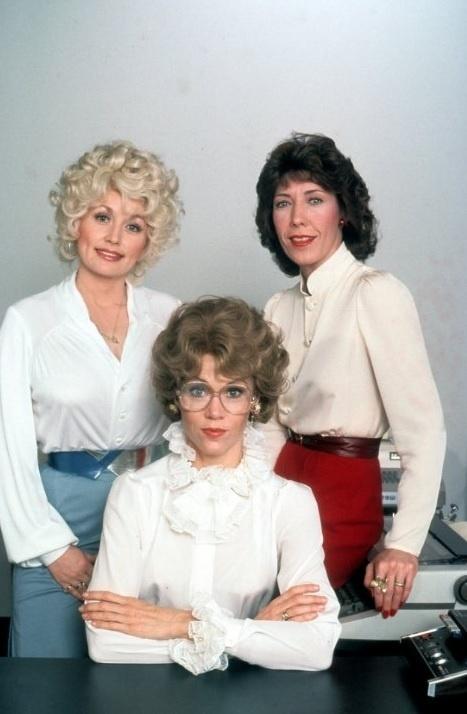 Jane Fonda, Dolly Parton and Lily Tomlin no filme