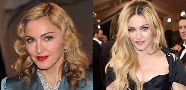Madonna em duas aparições no MET: a primeira em 2011 e a segunda em 2015 - Getty Imagens