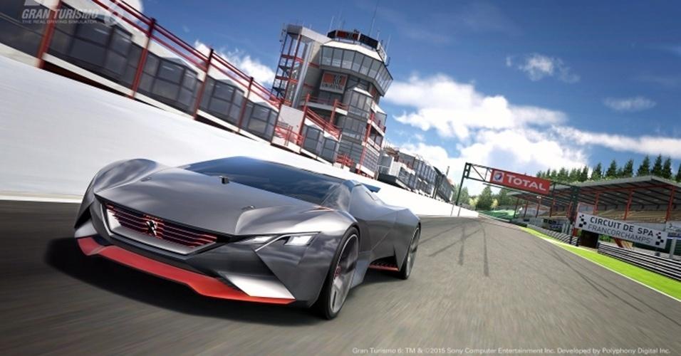 Peugeot revela o Vision GT do Gran Turismo 6 em Spa-Francorchamps