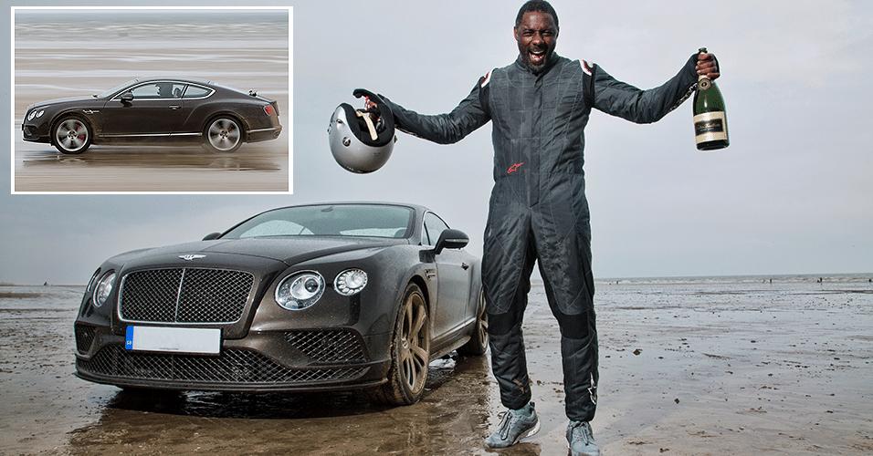 Ator Idris Elba bate recorde de velocidade em praia do País de Gales