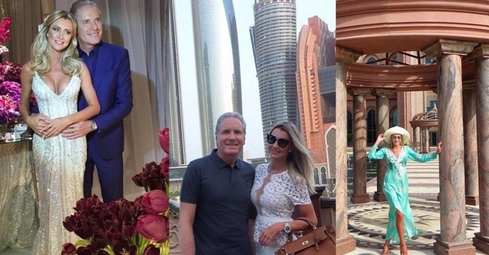 Depois de se casarem em uma cerimônia luxuosa, realizada em 30 de abril, Roberto Justus e a modelo Ana Paula Siebert foram curtir a lua de mel em Abu Dhabi, nos Emirados Árabes. Confira algumas fotos da viagem, publicada nas contas de Instagram dos noivos