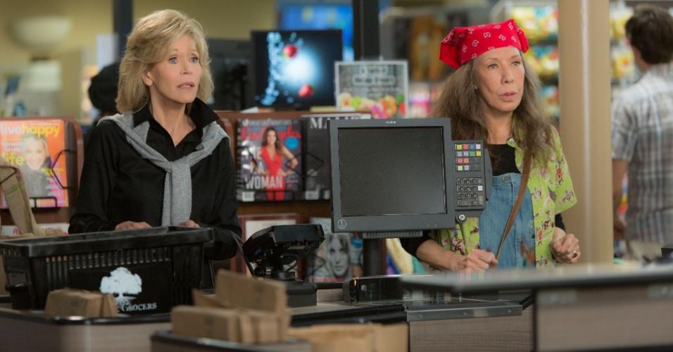 Jane Fonda e Lily Tomlin em cena