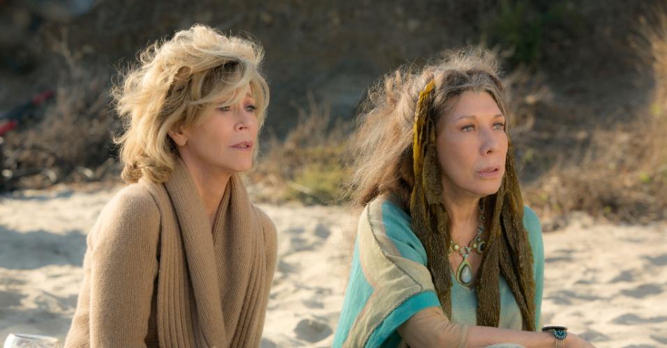 """Jane Fonda e Lily Tomlin são as protagonistas de """"Grace e Frankie"""", série da Netflix que conta a história de duas mulheres cujos maridos as deixam para ficarem juntos"""