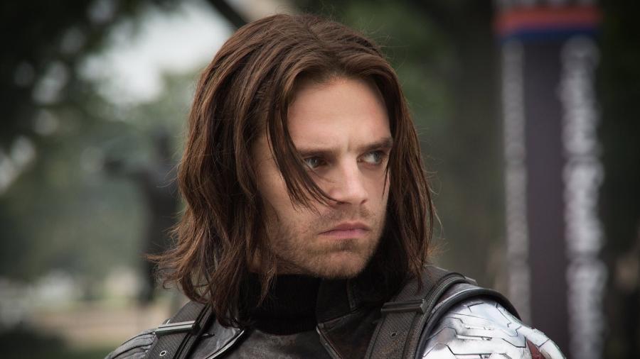 """Sebastian Stan como Soldado Invernal em """"Capitão América 2: O Soldado Invernal"""" - Divulgação"""