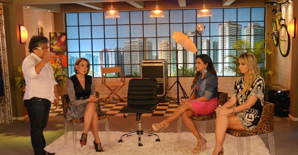 """Zilu Godoi vai dividir a apresentação do programa """"Assim Somos"""" no canal a cabo E+TV com a advogada Adriana Sorrentino e a psicóloga Karol Veiga"""