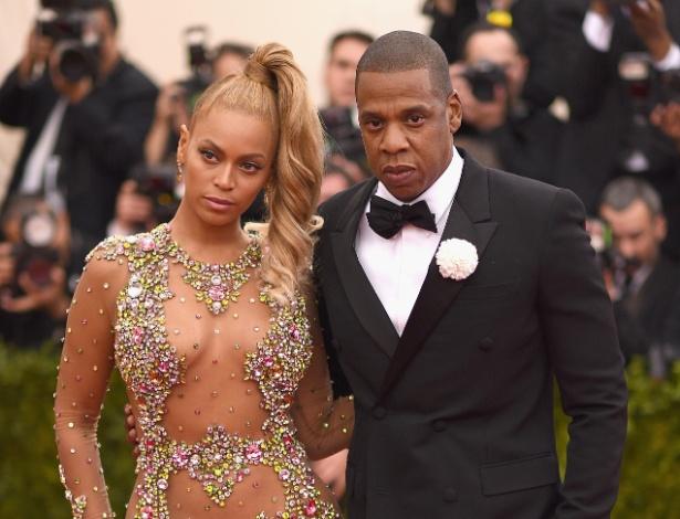 Beyoncé e Jay Z no MET 2015 - Getty Images