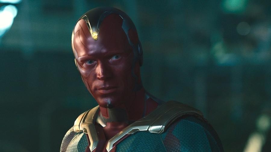 """Paul Bettany como Visão, em """"Vingadores: Era de Ultron"""" - Reprodução"""