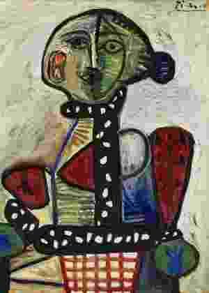 """Quadro """"Femme au chignon dans un fauteuil"""" (1948), de Pablo Picasso. A obra é um retrato de Françoise Gilot, a amante do célebre pintor espanhol - Divulgação"""