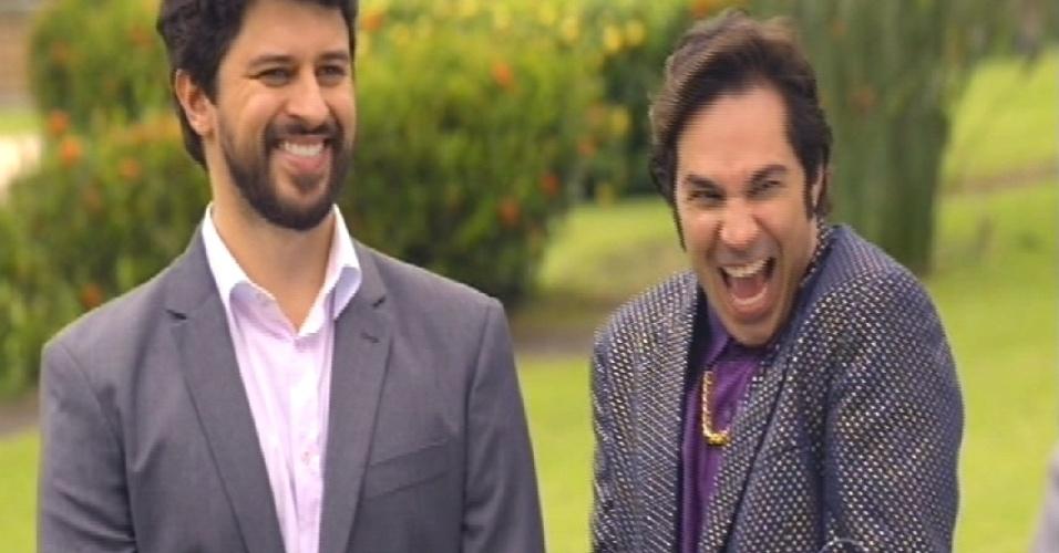 Samantha convida Pepito para morar em seu palácio, em construção no Ibirapuera