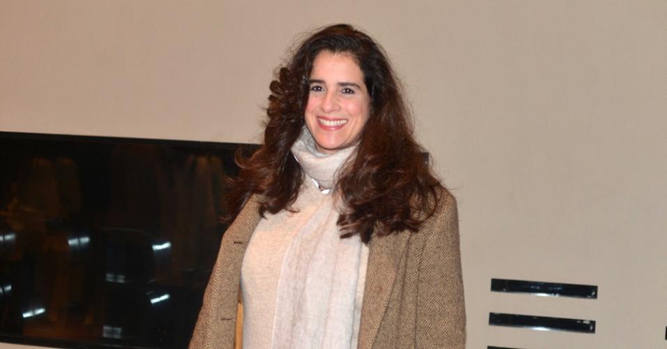 8.mai.2015 - Lúcia Veríssimo compareceu ao show de Gal Costa, na noite desta sexta-feira