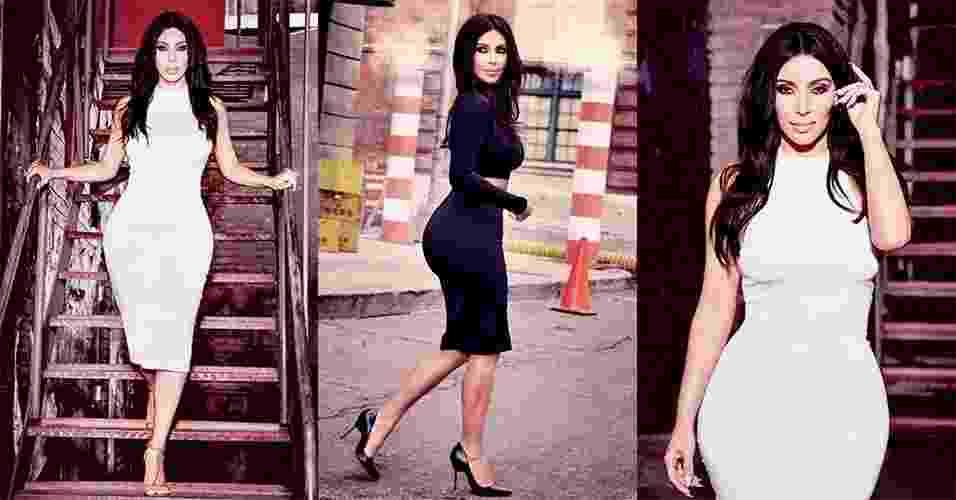 A socialite e empresária Kim Kardashian assina a nova coleção-cápsula da C&A, que estará disponível no e-commerce da marca no dia 12 de maio de 2015 e nas lojas no dia 21 de maio. Conheça, a seguir, a linha de roupas cuja inspiração vem do guarda-roupa da norte-americana - Divulgação