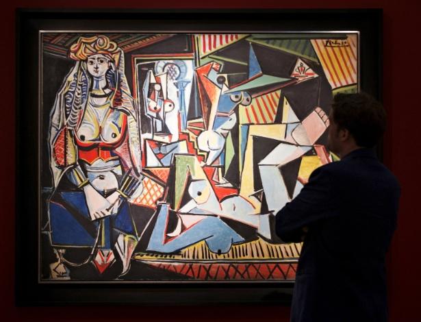 """O quadro """"As Mulheres de Argel"""", de Pablo Picasso que será leiloado em Nova York - Darren Ornitz/Reuters"""