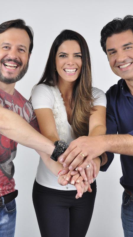 """Celso Zucatelli, Mariana Leão e Edu Guedes apresentam o """"Melhor Pra Você"""" - Divulgação/RedeTV!"""