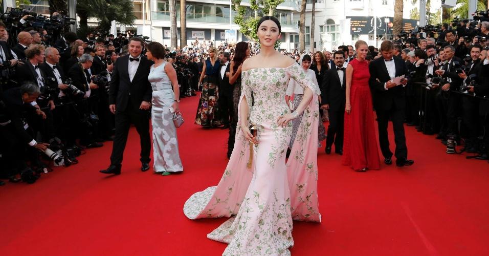 13.mai.2015 - A atriz, cantora e popstar chinesa Fan Bingbing, que participou de blockbusters hollywoodianos como