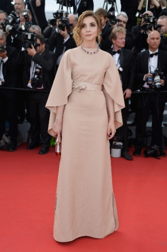 13.mai.15 - Clotilde Courau em Cannes 2015