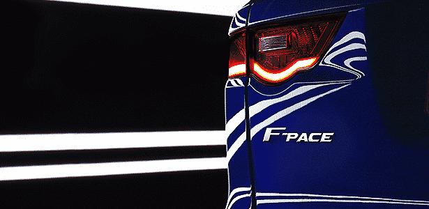 Jaguar F-Pace lanterna anúncio - Divulgação - Divulgação