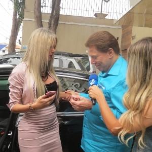 Silvio Santos elogia a modelo Thalita Zampirolli
