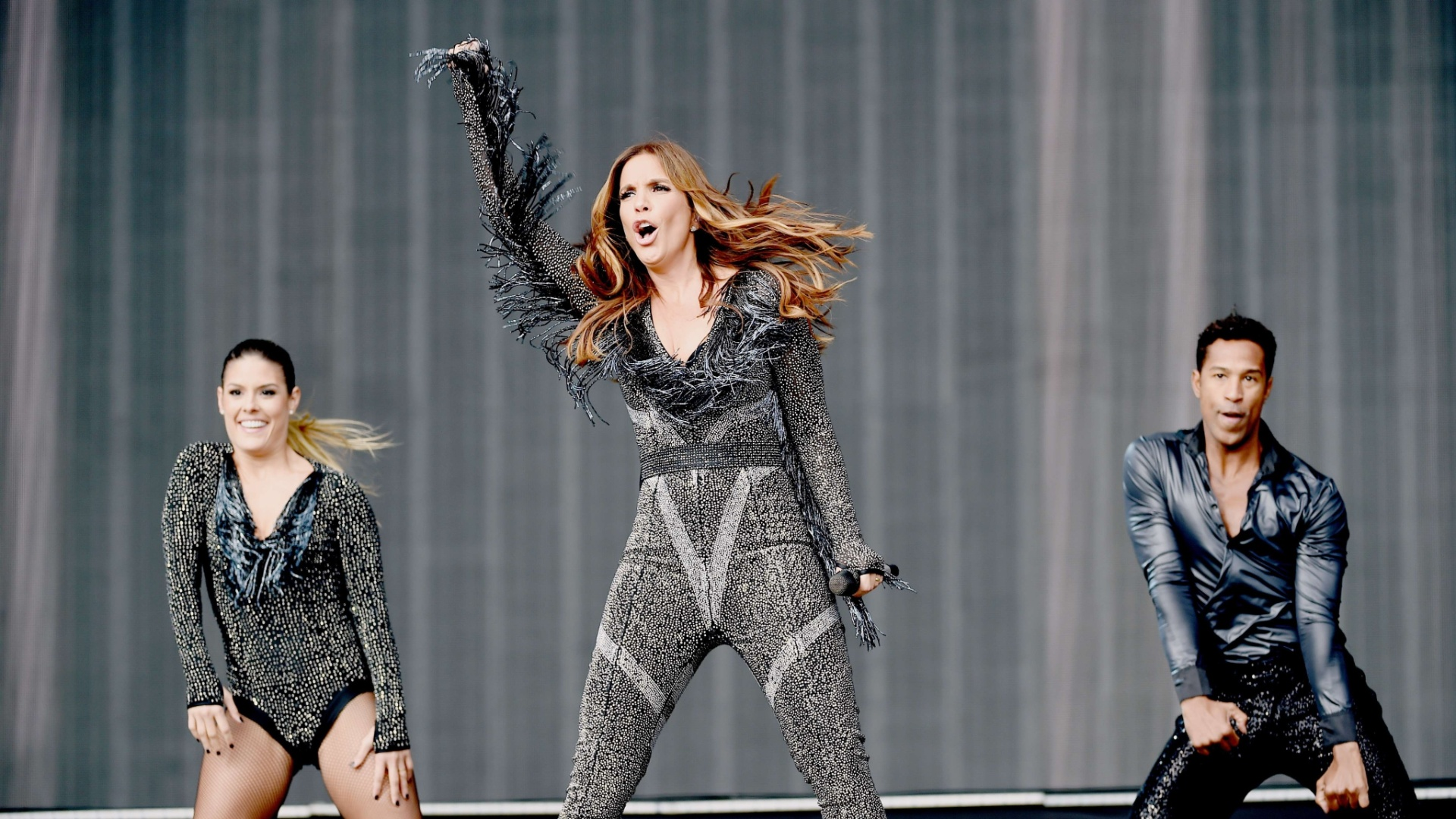 15.mai.2015 - A cantora Ivete Sangalo se apresenta no palco principal do Rock in Rio Las Vegas