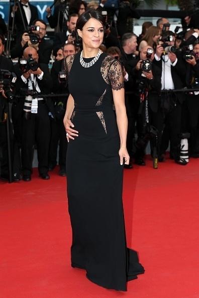 15.mai.2015 - A atriz norte-americana Michelle Rodriguez, 36, comparece à estreia de