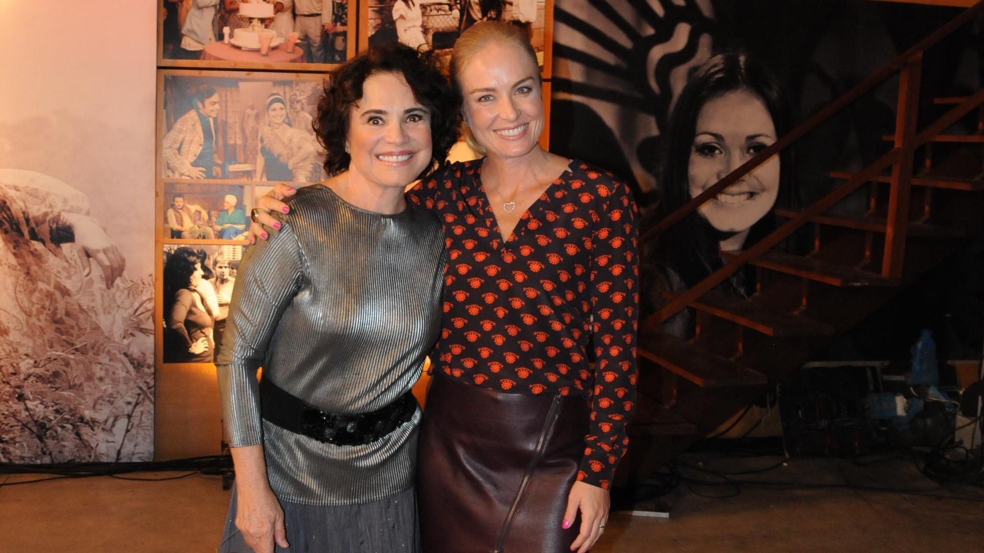 Ao lado de Angélica, Regina Duarte viaja no tempo no quadro