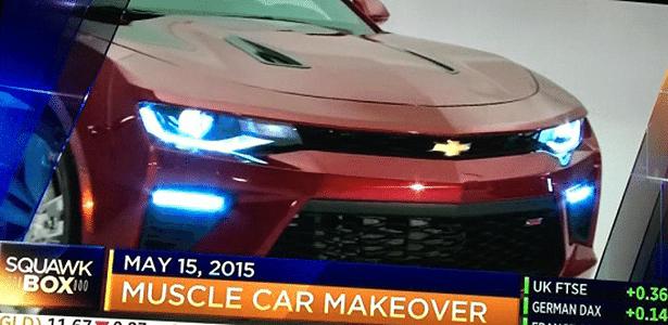 Ansiosos: TV americana CNBC se adianta à GM ao mostrar Camaro na manhã de sexta - Reprodução/CNBC