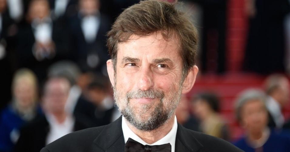 16.mai.2015 - O italiano Nanni Moretti levou a Croisette, em Cannes, às lágrimas, neste sábado (16), com