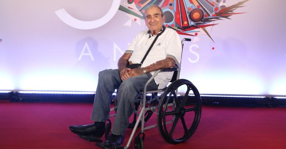 Elias Gleizer na festa de 50 anos da Rede Globo, em abril deste ano