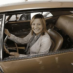 Mary Barra chega ao lançamento do Camaro 2016 - Jeff Kowalsky/EFE